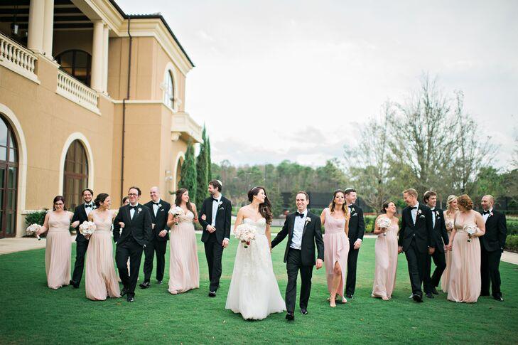 Nude Bridesmaid Dresses in Various Styles