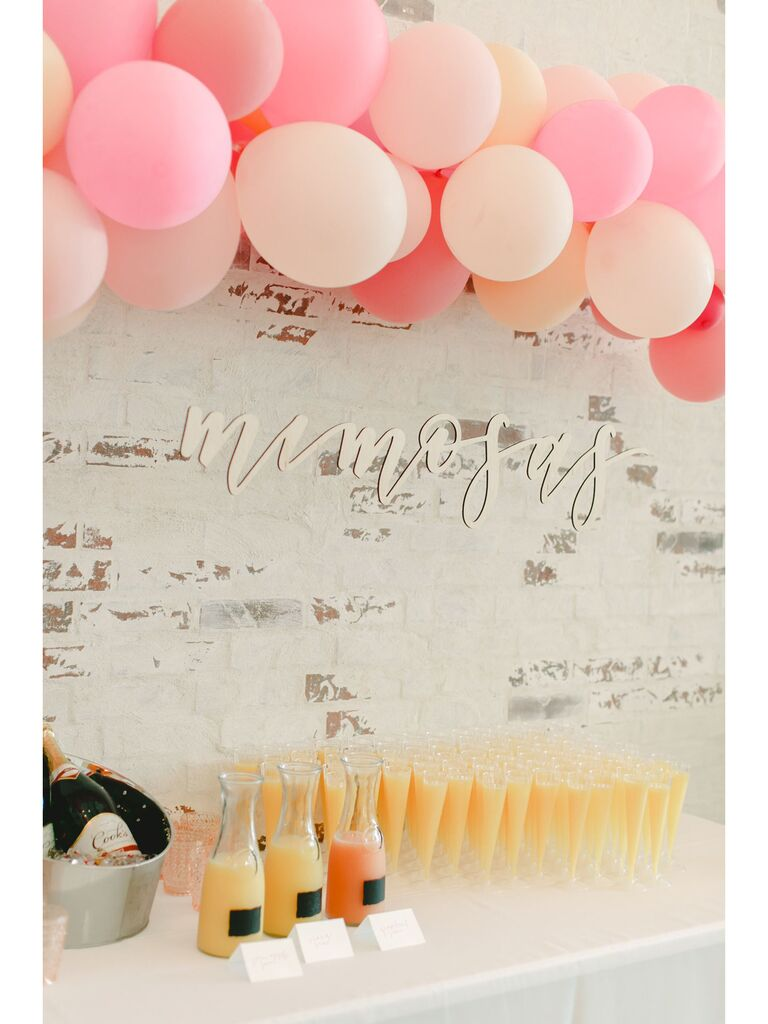 Brunch engagement party idea with mimosa bar