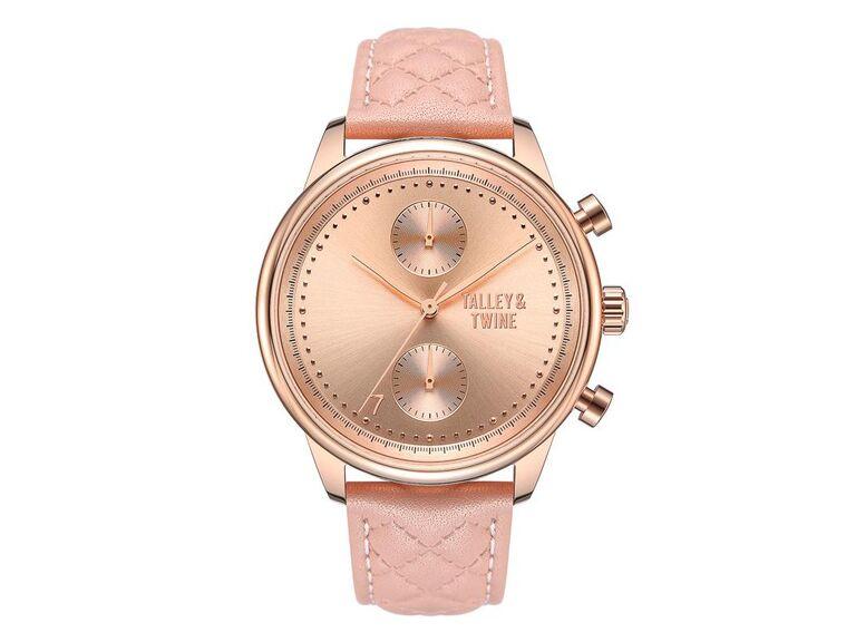 Pink watch wedding gift for bride