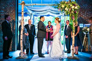 Jewish Ceremony Beneath a Birch Chuppah at The American Visionary Museum