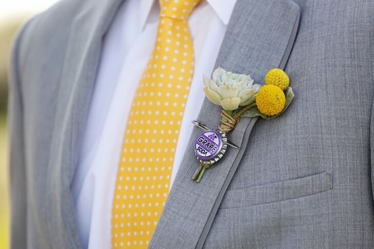Billy Ball and Soda Cap Boutonniere