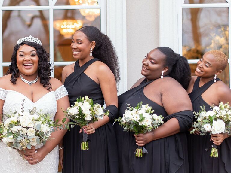 Bridesmaid updo ponytail