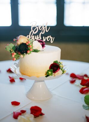 One-Tier Yellow Ombre Cake