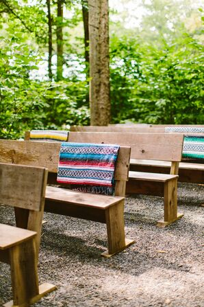 Wood Pew Bench Ceremony Seating