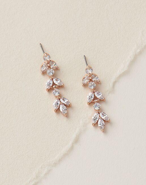 Dareth Colburn Sydney Floral CZ Earrings (JE-4140) Wedding Earrings photo