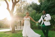 """""""Love and a warm summer breeze,"""" inspired Michelle and Dee's garden wedding celebration at The Old Homestead in Crockett, California. To bring their g"""