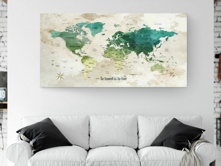pushpin map romantic gift for wife