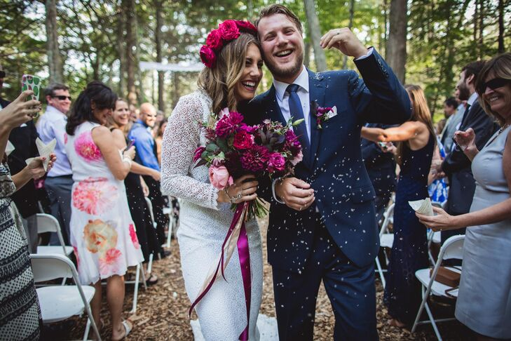 Inspired by their love of nature and a desire to highlight the organic beauty of their woodland home, Jenna Craig (28 and a financial manager) and Jon