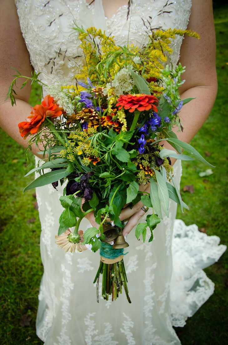 Lush Green Wildflower Bouquet