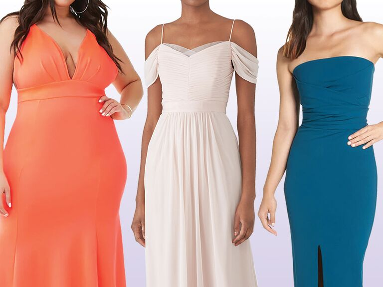 236996cc47fd6 Affordable bridesmaid dresses in coral, blush and teal