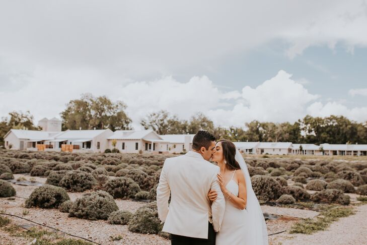 Elegant Couple at Los Poblanos Inn & Organic Farm in Albuquerque, New Mexico