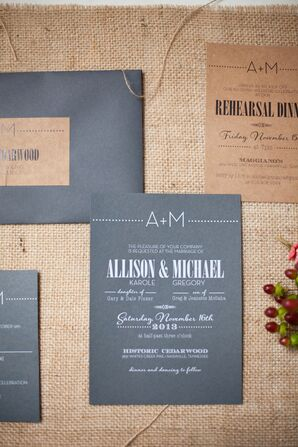 Kraft Paper and Chalk Board-Inspired Stationery Suite