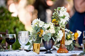 White Dahlia Centerpiece