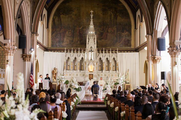 Church Wedding Ceremony in Boston, Massachusetts