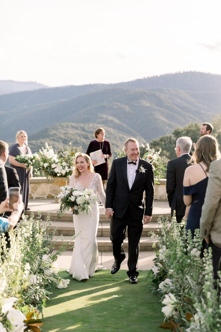 Outdoor Recessional at Holman Ranch in Carmel Valley, California