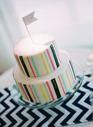 Cheery Striped Wedding Cake