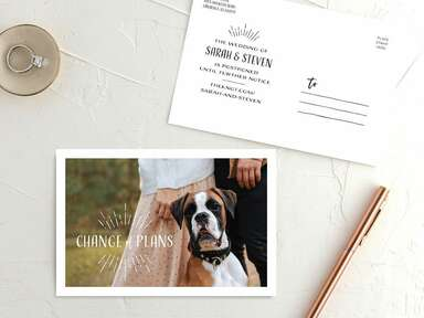 email templates to use change-the-date covid weddings