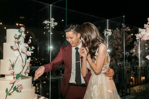Traditional Cake Cutting with Tiered Fondant Cake