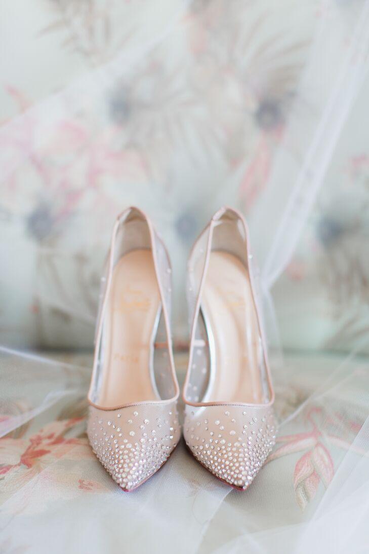 753359e775d Christian Louboutin Ivory Beaded Illusion Shoes