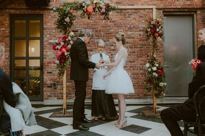 Whimsical Peony and Rose Wedding Arch