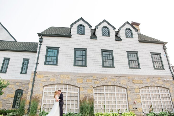 The bride and groom hosted their reception in the open, light-filled social halls of Keller Golf Course in Maplewood, Minnesota.