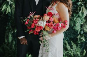 Vibrant Wedding Bouquet at Ebell Long Beach in California