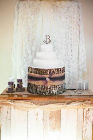 Rustic Tree Bark Wedding Cake Stand
