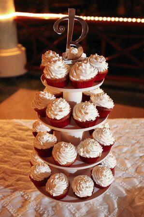 Dulce de Leche Wedding Cupcake Tower