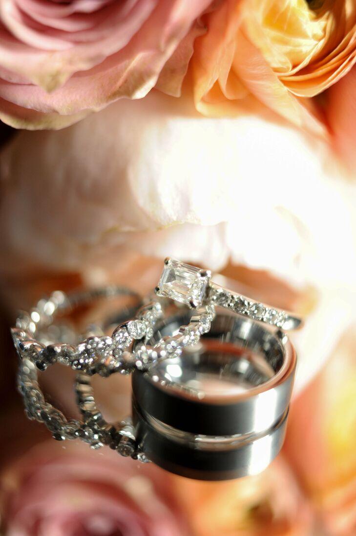 Diamond-Encrusted Wedding Rings