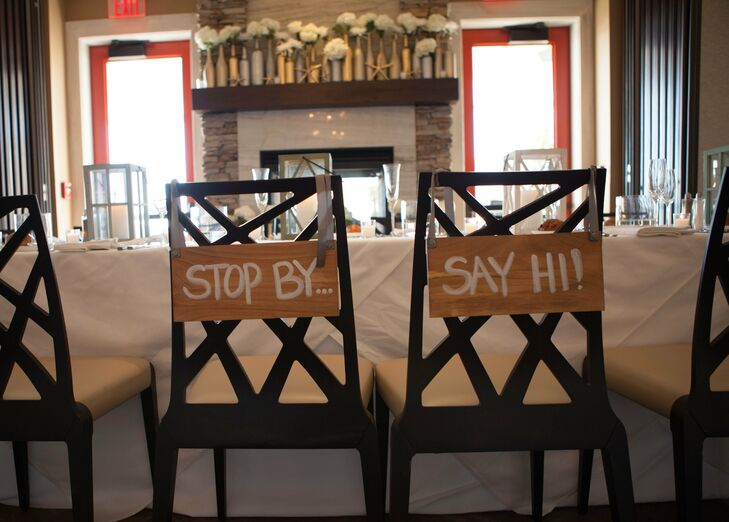 DIY Hanging Wooden Chair Signs