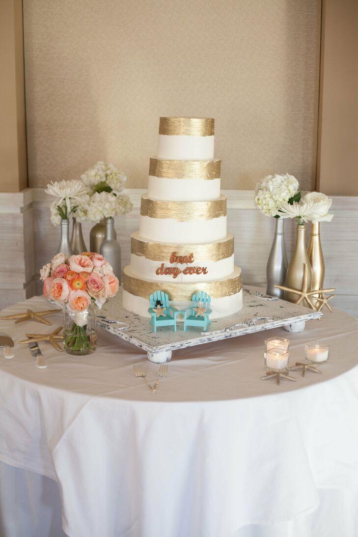 Beach-Inspired Wedding Cake