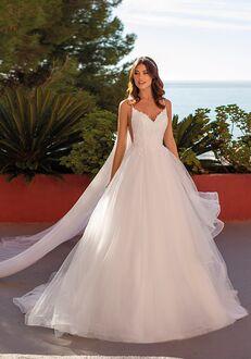 WHITE ONE WATERLEAF Ball Gown Wedding Dress