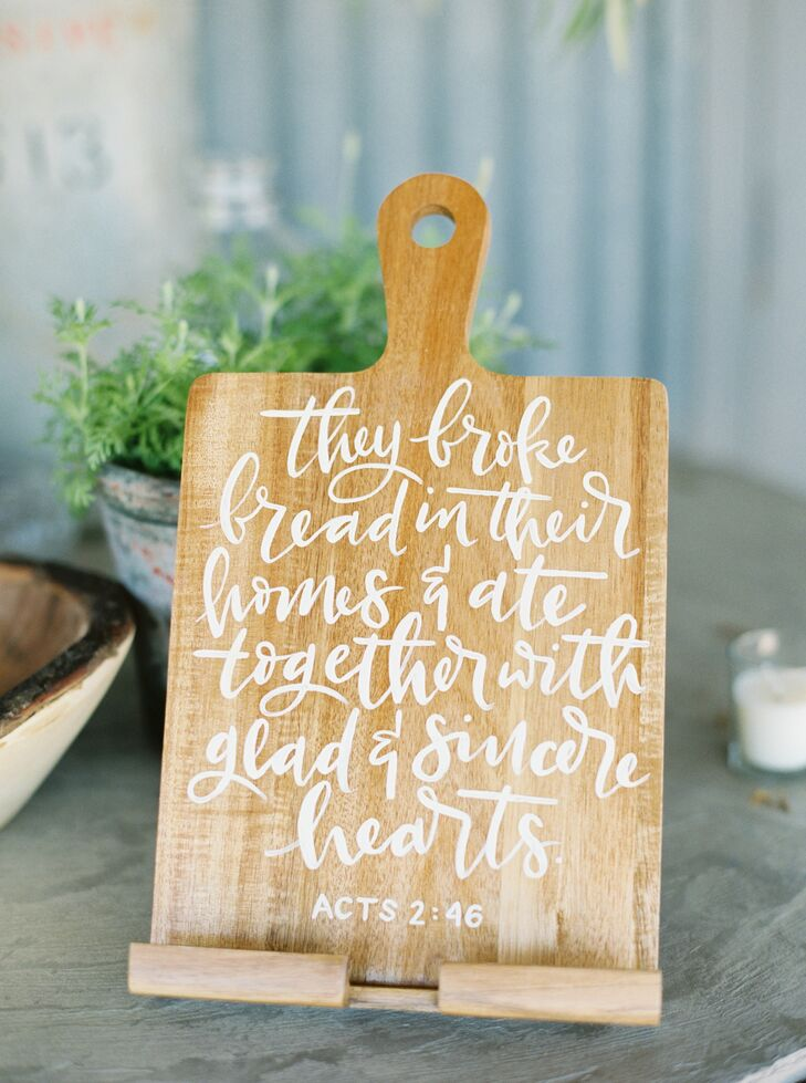 Rustic Cutting Board with Bible Verse
