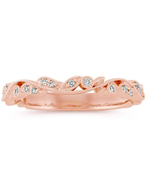 8d74b23023f Shane Co. Vintage Diamond Wedding Band in 14k Rose Gold Wedding Ring ...