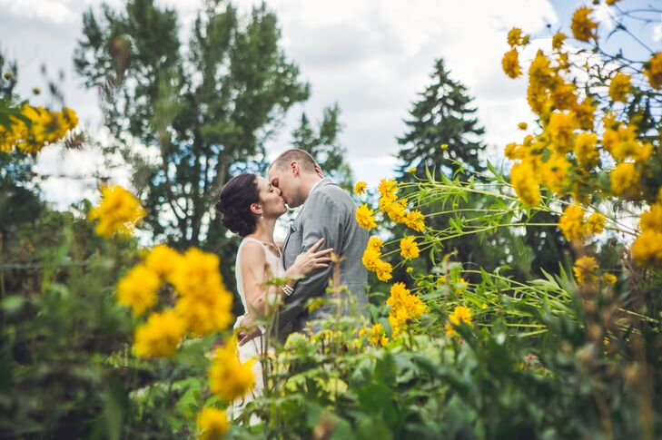 Aline LaBrie (30, a Geologist) and Michael Walintschek (33, a Purchaser) wanted the main focus of their wedding to be the flowers--garden roses, roses