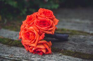 Orange Rose Bridesmaid Bouquets