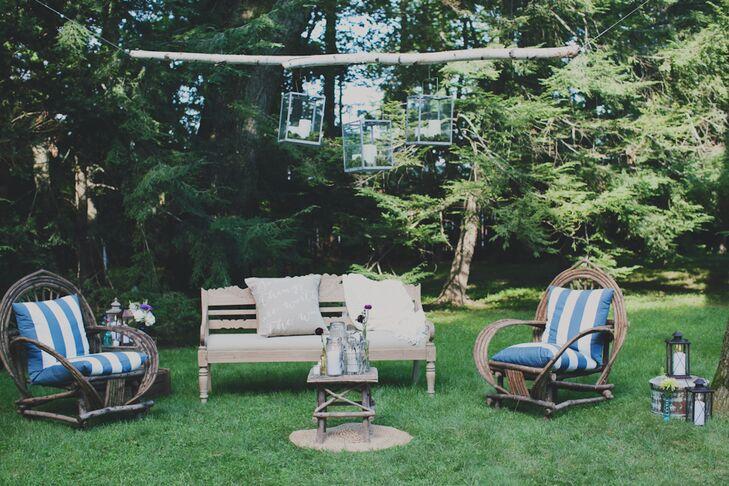 Backyard Wedding Lounge Area Seating