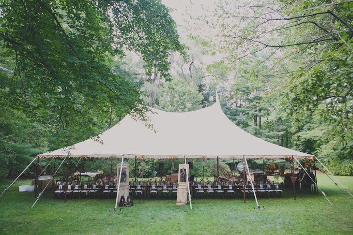 Tented Backyard Wedding Reception in Pomona