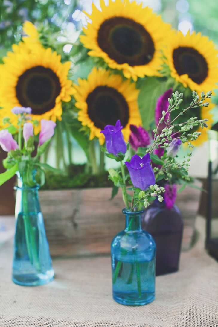 Sunflower Reception Flower Arrangement