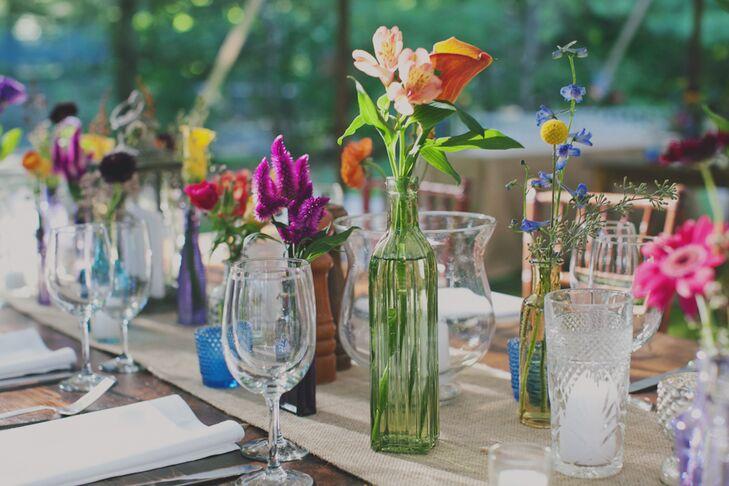 Eclectic Bud Vase Tablescape Decor
