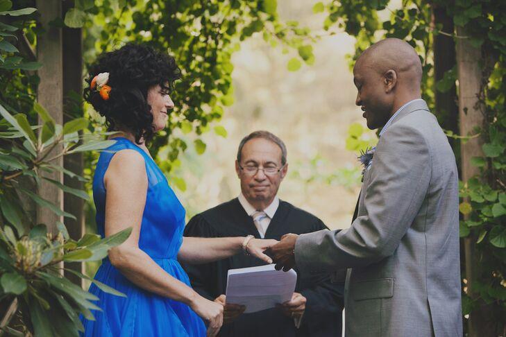 Fusion Jewish and Haitian Backyard Wedding Ceremony