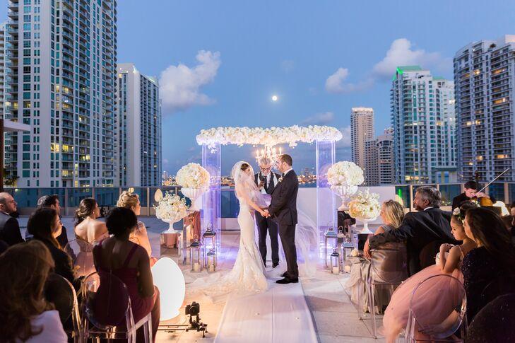 Modern Rooftop Wedding Ceremony