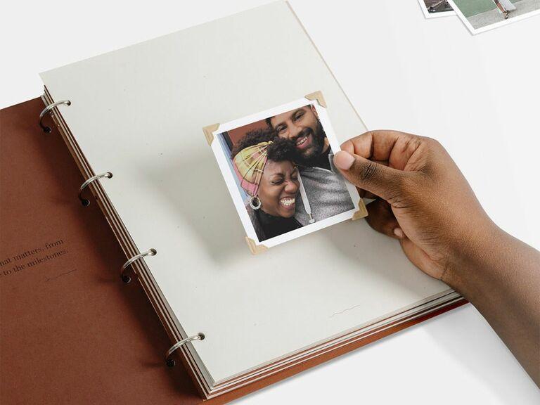 scrapbook photo album engagement gift idea
