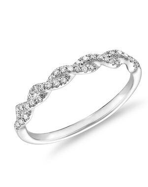 Blue Nile 71484 White Gold Wedding Ring