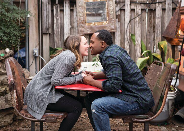 Dara and Terrence engagement photo Austin TX