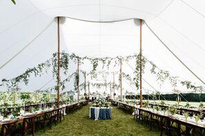 Chic Natural Sail Cloth Tent Reception