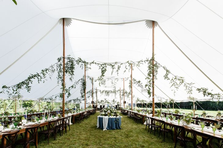 Chic Natural Sail Cloth Tent Reception