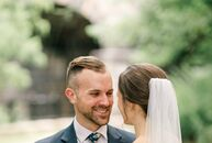 Kathy	Poploski and Christopher Urso combined industrial and rustic details for their traditional Pittsburgh wedding. The day began with a ceremony at