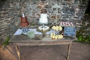 Cupcake and Wedding Cake Dessert Table