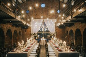 A Candlelit Rustic-Industrial Reception at The Foundry